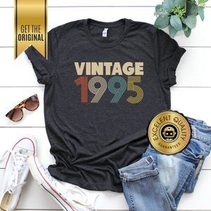 25th Birthday Gifts for Women, Vintage 1995 Shirt